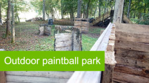 Outdoor paintball park